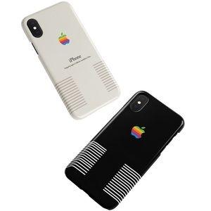 New Retro Classic Apple iPhone Case Black or White